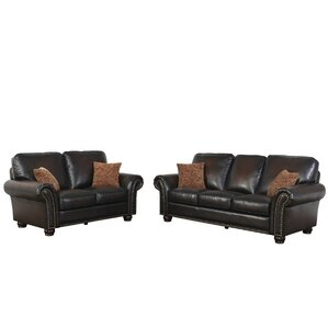 Fallsburg 2 Piece Leather Living Room Set by Darby Home Co