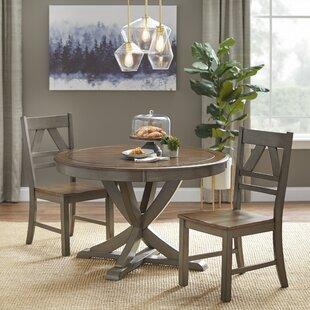 Tiana 3 Piece Solid Wood Dining Set