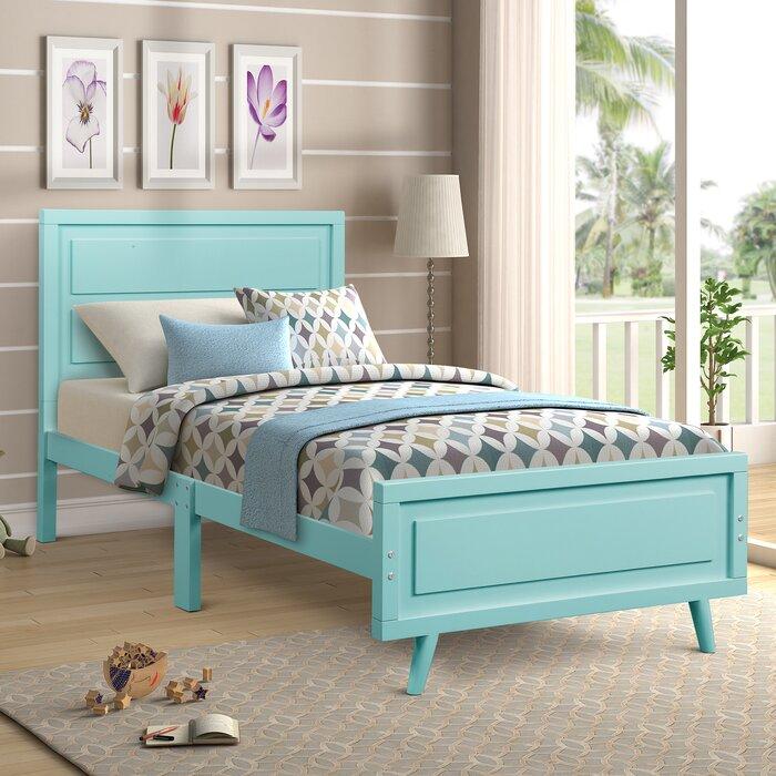 Harriet Bee Twinsburg Wood Twin Platform Bed Wayfair