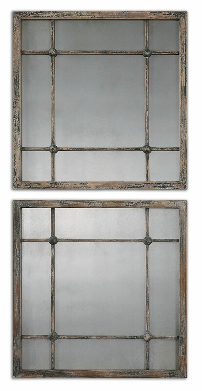 2 Piece Square Wall Mirror Set Amp Reviews Birch Lane