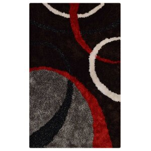 Marigold Abstract Hand Tufted Black/Red Area Rug