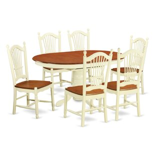 Oval kitchen dining room sets youll love avon 7 piece dining set workwithnaturefo