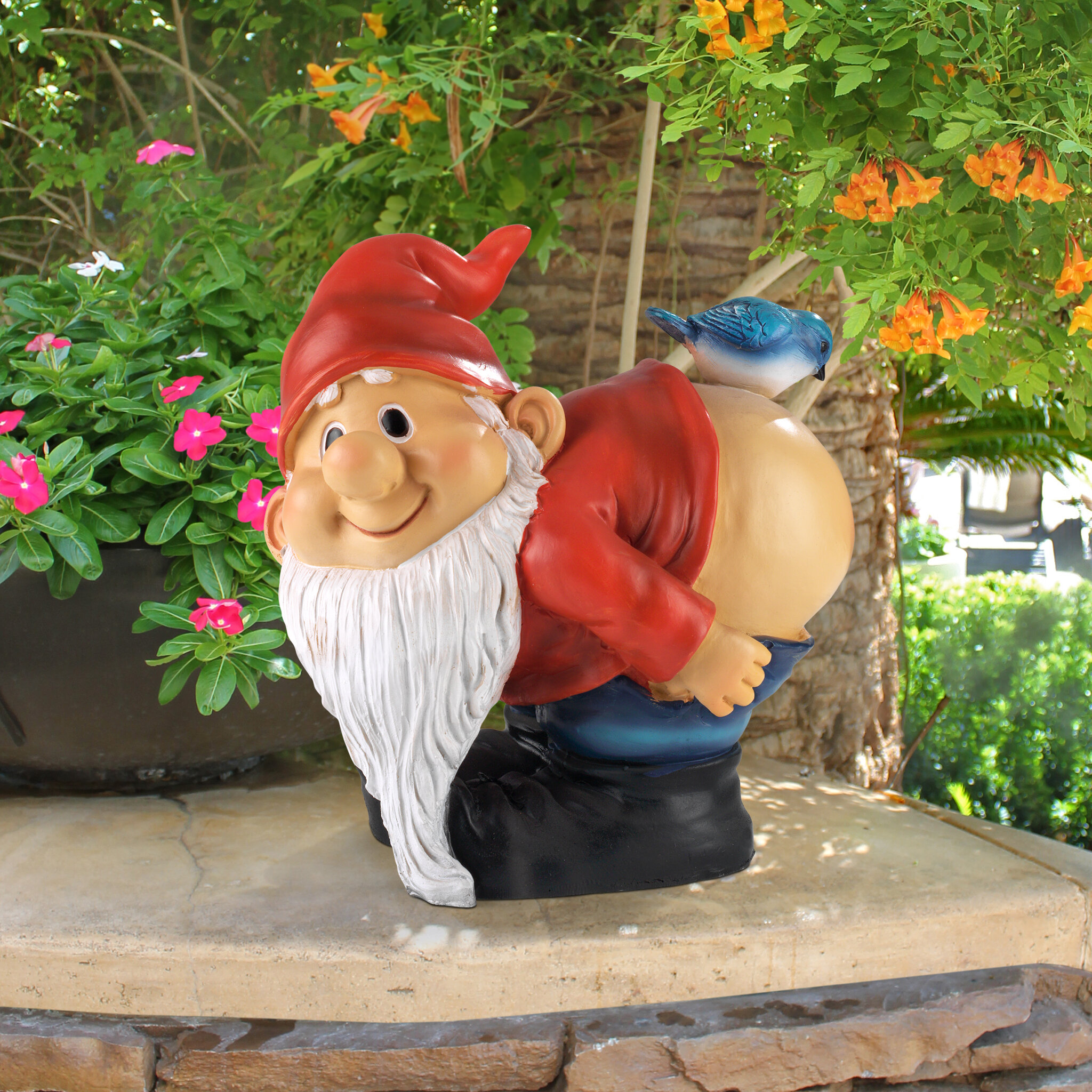 Design Toscano Loonie Moonie Bare Buttocks Garden Gnome Statue U0026 Reviews |  Wayfair