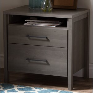 Gravity 2 Drawer Nightstand