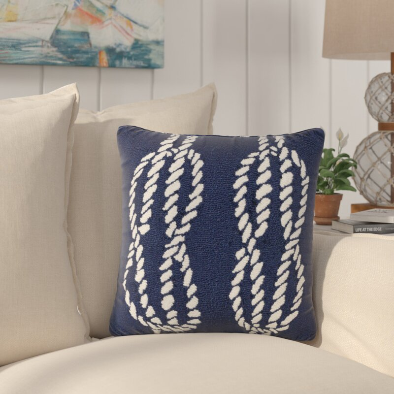 Breakwater Bay Lowes Ropes Indoor Outdoor Throw Pillow Wayfair