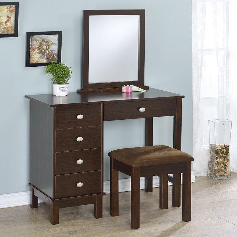 Attractive Vanity And Mirror Set Part - 6: Wayfair.com