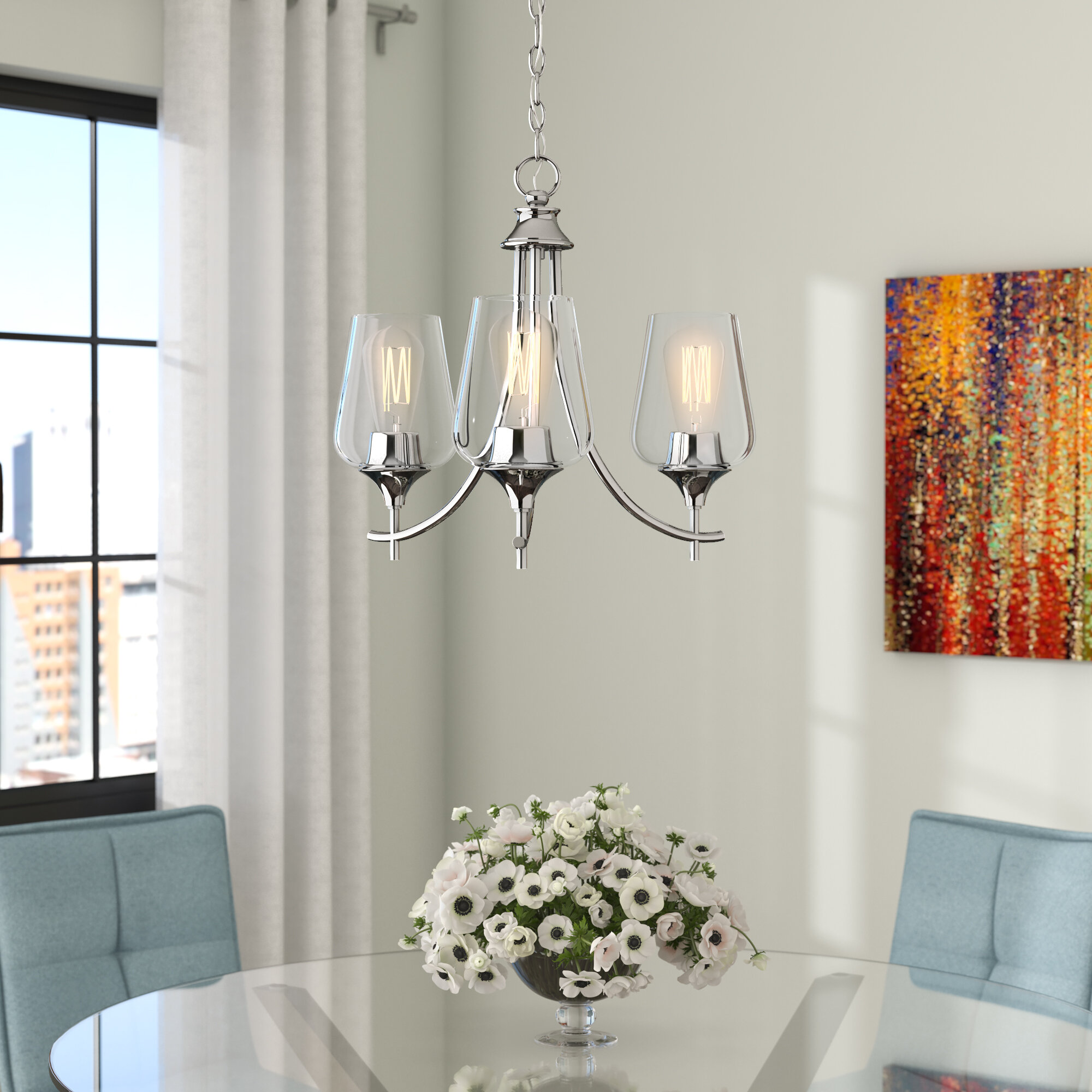 Hickerson 3 light chandelier