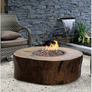 Burning Stump Stone Natural Gas Fire Pit Table