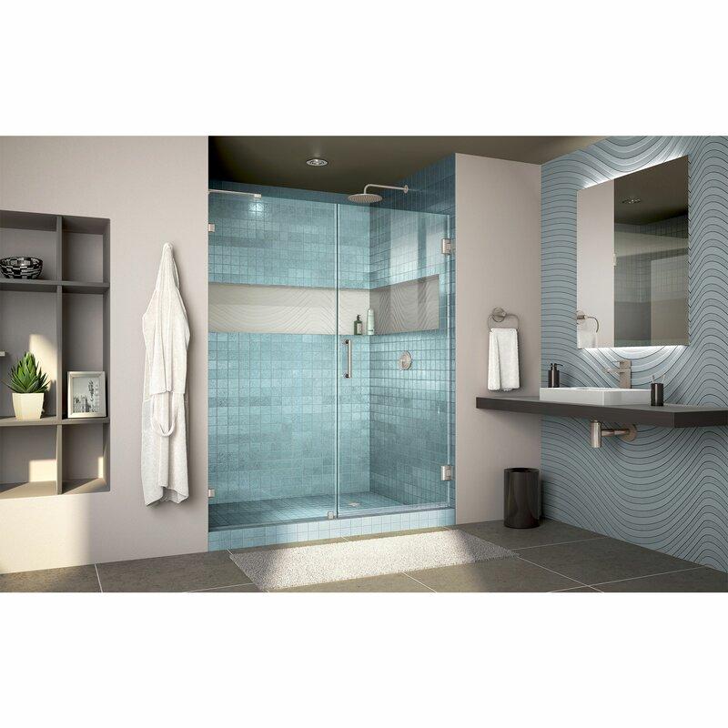 Unidoor Lux 59 Quot X 72 Quot Hinged Frameless Shower Door With