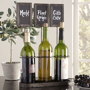 Chalkboard 3-Bottle Tabletop Wine Rack by Birch Lane?