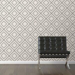 Pixel Diamonds Removable 10' x 20 Geometric Wallpaper