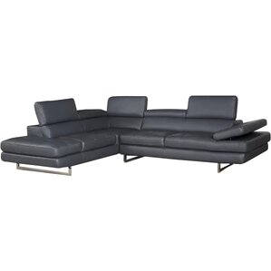 Hugo Leather Reclining Sectional  sc 1 st  AllModern : grey sofa with chaise - Sectionals, Sofas & Couches