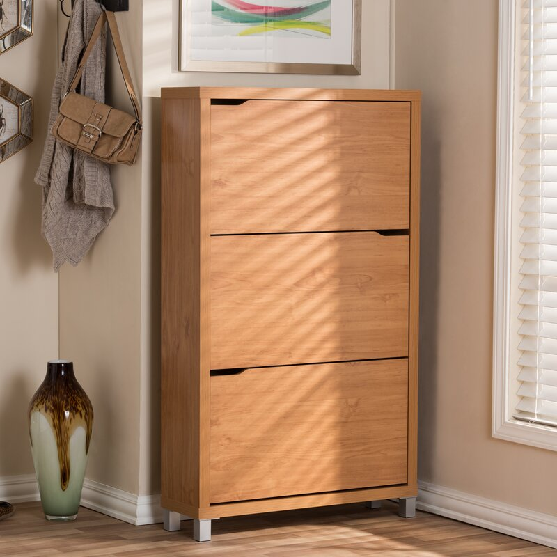 Cade Modern 18-Pair Shoe Storage Cabinet & Reviews | Birch Lane
