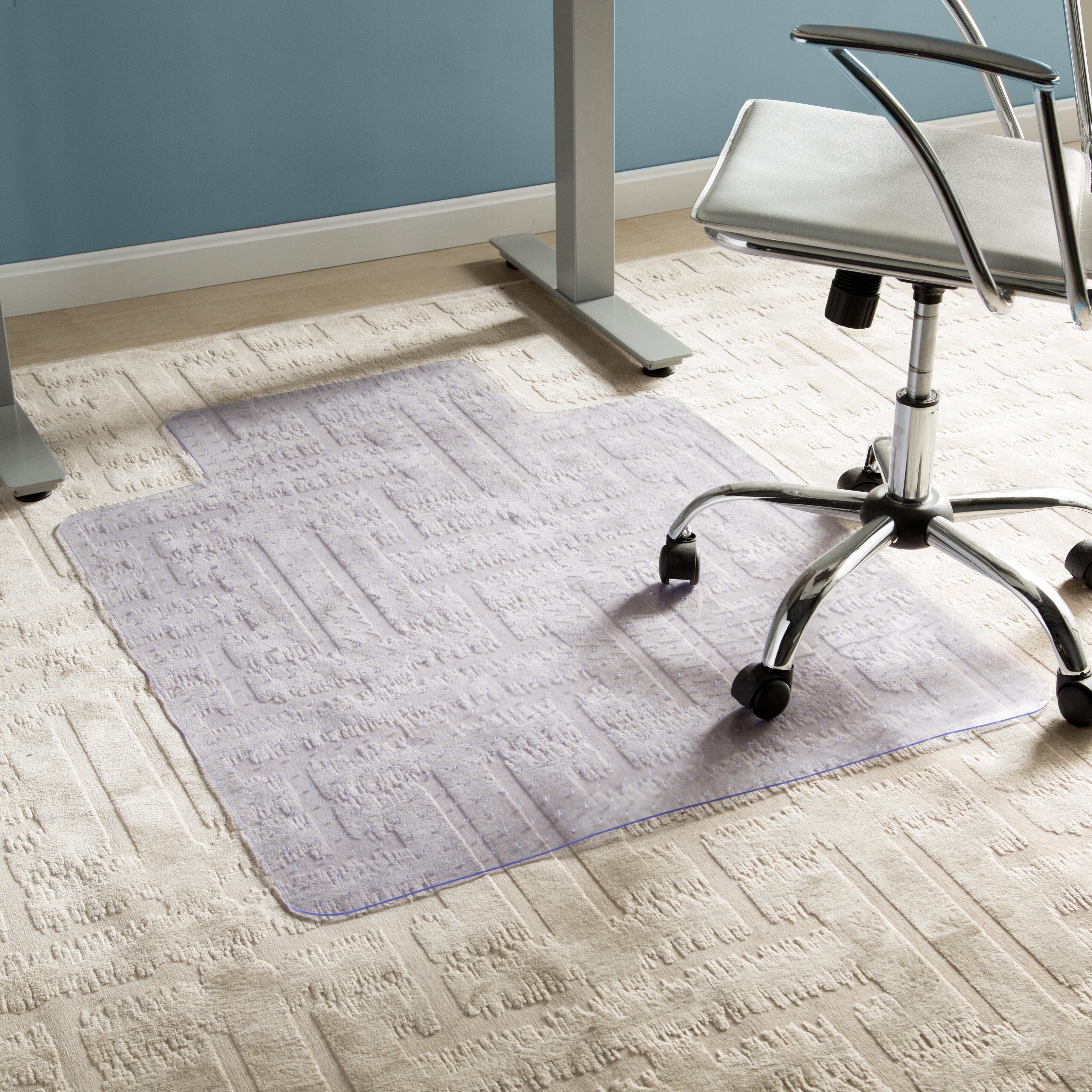 Wayfair Basics Office Low Pile Carpet Straight Edge Chair Mat Reviews