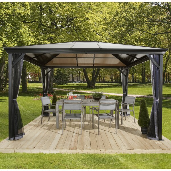 Sojag Verona Metal Patio Gazebo Amp Reviews Wayfair Ca