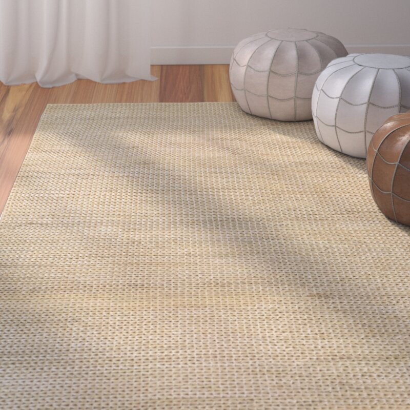 Bungalow Rose Uhlig Hand Woven Cream Natural Area Rug Reviews