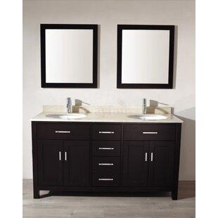Celize 63 Double Bathroom Vanity Set With Mirror