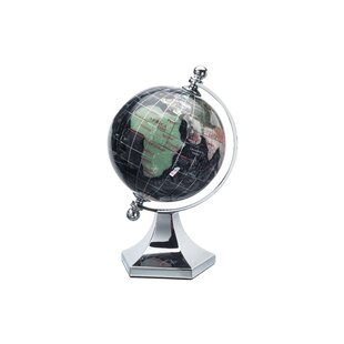 Modern globes allmodern gemstone globe with opalite ocean and contempo stand gumiabroncs Image collections