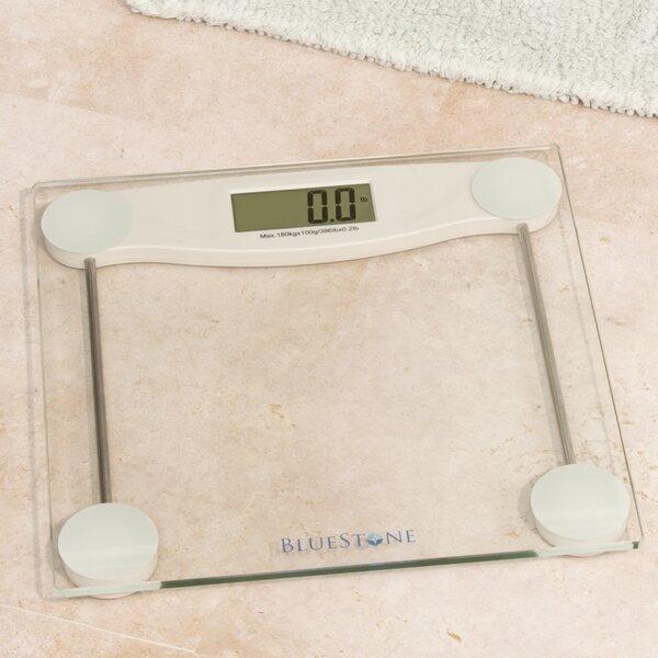 Review Bathroom Scales: Bluestone Digital Glass Bathroom Scale With LCD Display