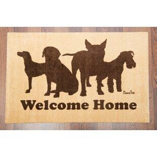 Doortex Welcome Dog Design Doormat by Floortex