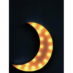 Crescent Moon Marquee Light Wall Décor