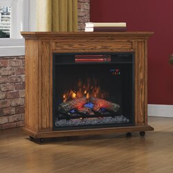 Rolling Mantel with Infrared Quartz 33  TV Stand with FireplaceDuraflame Rolling Mantel with Infrared Quartz 33  TV Stand with  . Tv Stand For Fireplace Mantel. Home Design Ideas