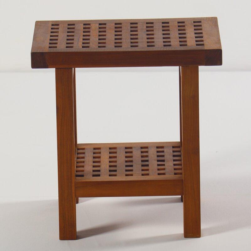 Solid Teak Wood Shower Seat & Reviews | Birch Lane
