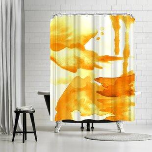 Amy Brinkman Spring Light Yellow Shower Curtain