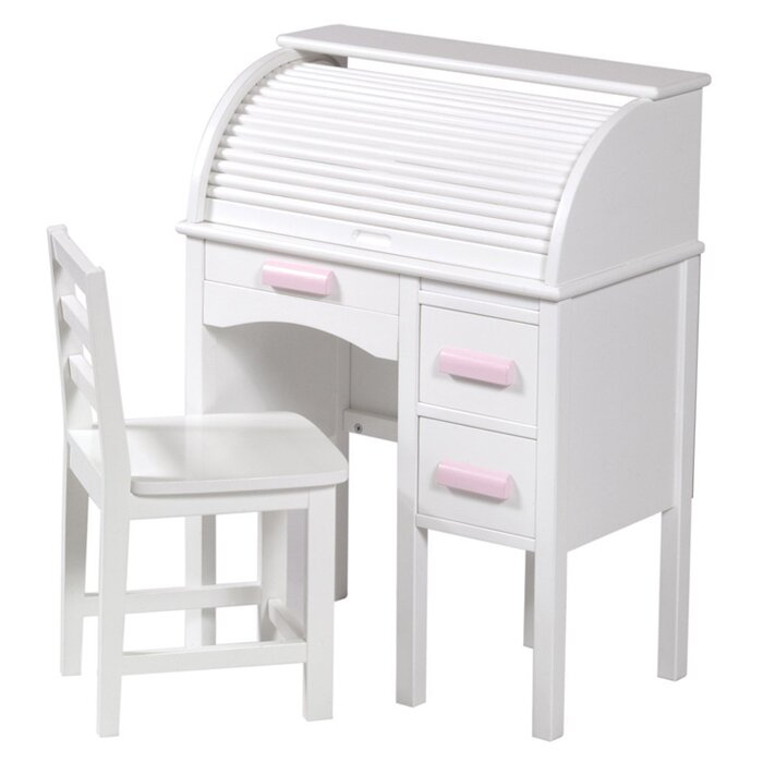 Guidecraft 2 Piece Jr Roll Top 27 Quot Writing Desk Set