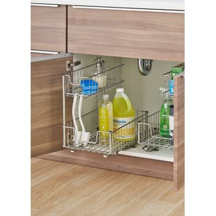Sliding Undersink Organizer (Set of 2)  sc 1 st  Wayfair : pull out under cabinet storage - Cheerinfomania.Com