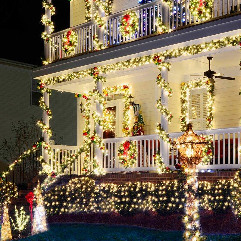 225 light solar 105 ft fairy string lights