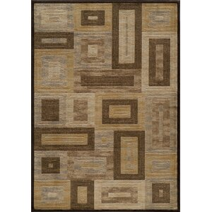Sherill Brown Synthetic Area Rug