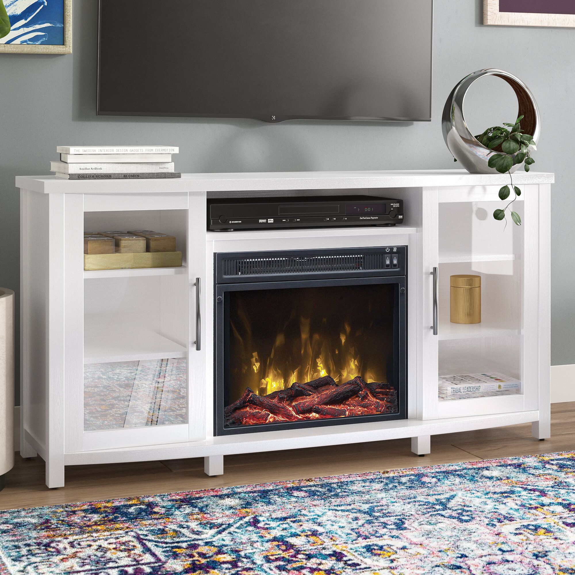 Zipcode Design Lockesburg Tv Stand For Tvs Up To 60 With Fireplace