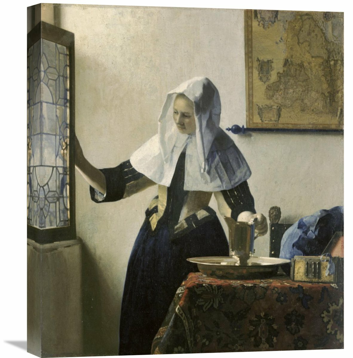 Global gallery woman with a water jug by johannes vermeer painting print on wrapped canvas wayfair