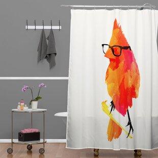 Punk Bird Single Shower Curtain