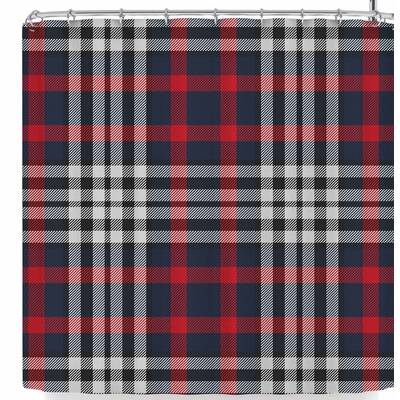 Kess Original Plaid Shower Curtain