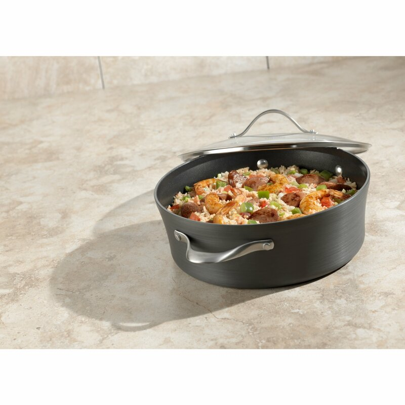 Contemporary Nonstick 5 Qt. Saute Pan with Lid