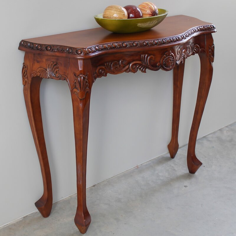 High Quality Luck Hand Carved Wood Console Table