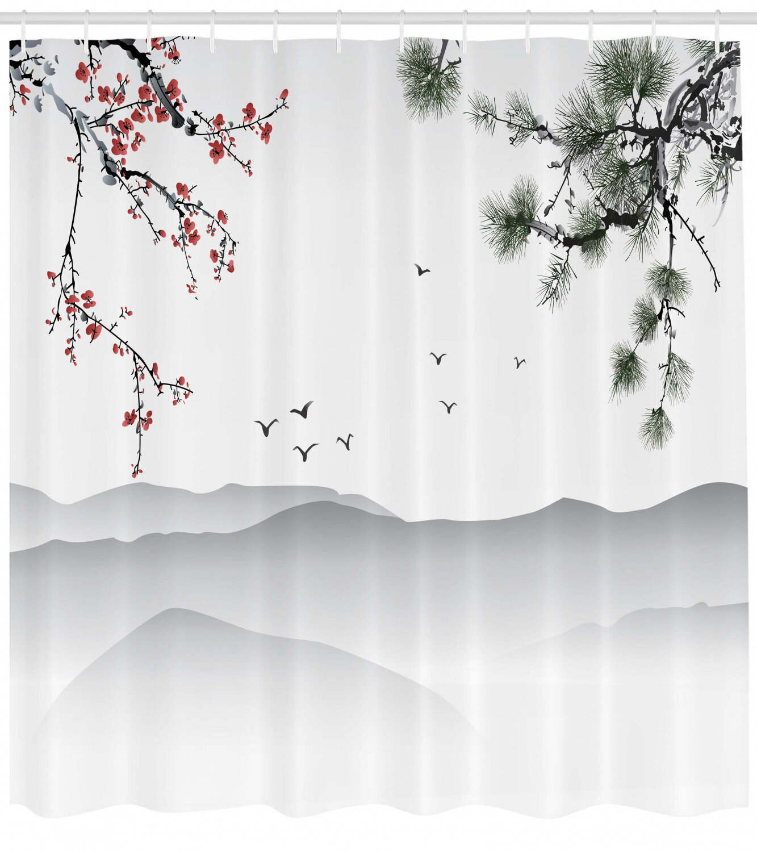 Bath Rainbow Shower Curtain Vibrant Wooden Artistic Print
