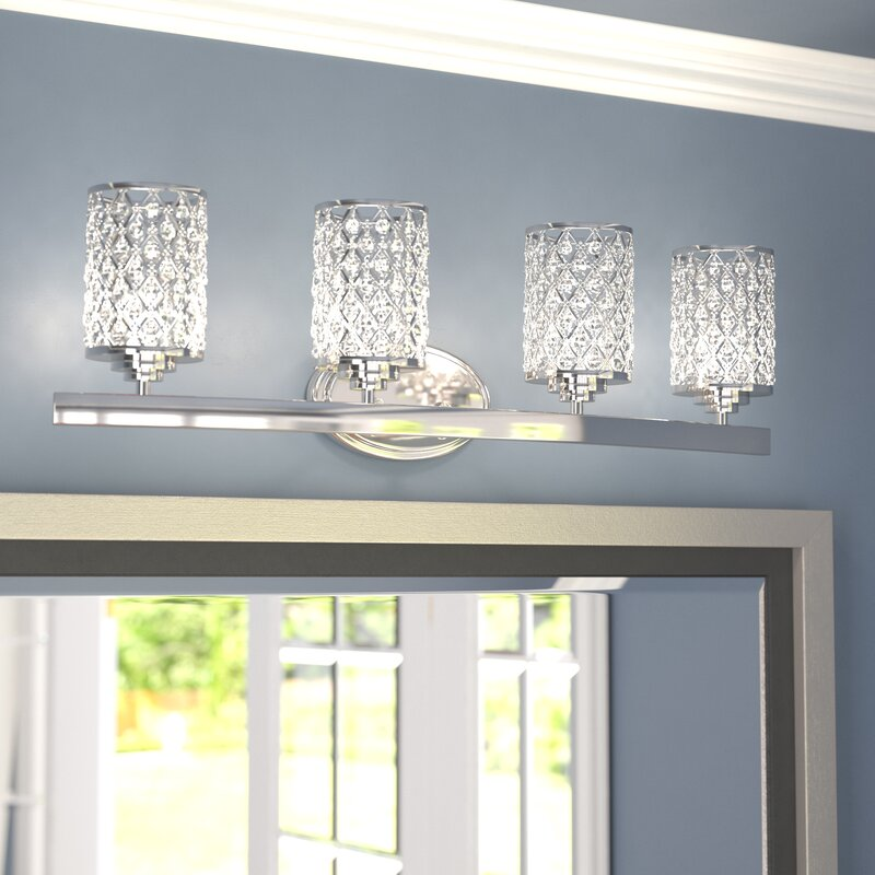 Willa Arlo Interiors Senters 4-Light Vanity Light & Reviews | Wayfair