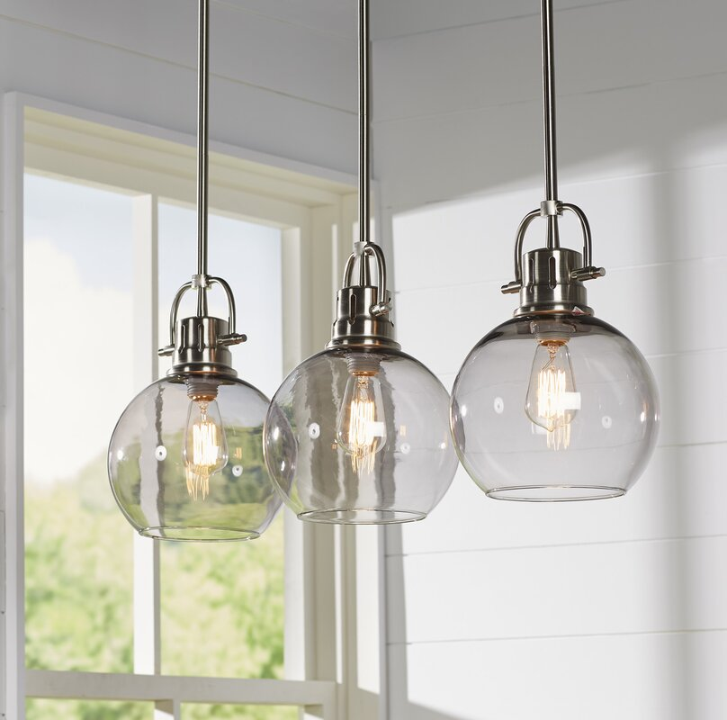Kitchen Island Pendant Lighting: Brayden Studio Burner 3-Light Kitchen Island Pendant