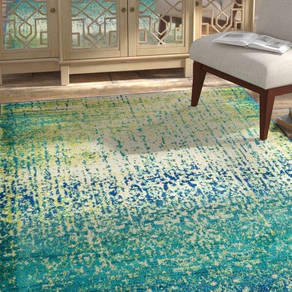 Bungalow Rose Cedro Blue/Green Area Rug & Reviews
