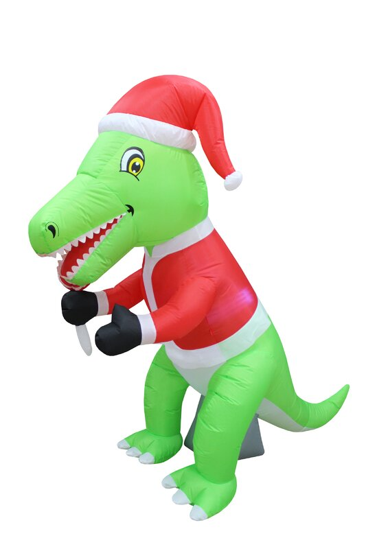 Beautiful Christmas Inflatable Part - 7: Dinosaur Christmas Inflatable
