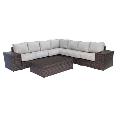 Brayden Studio Simmerman 10 Piece Sectional Set with Cushions
