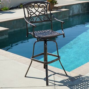 swivel patio bar stools you ll love wayfair