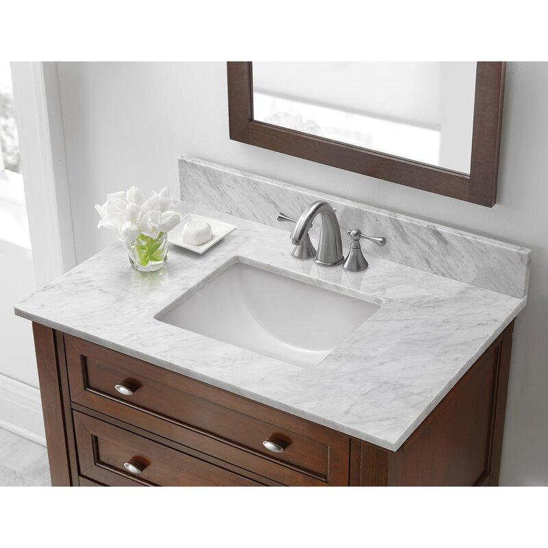 """HalsteadInternational Marble 31"""" Single Bathroom Vanity ..."""