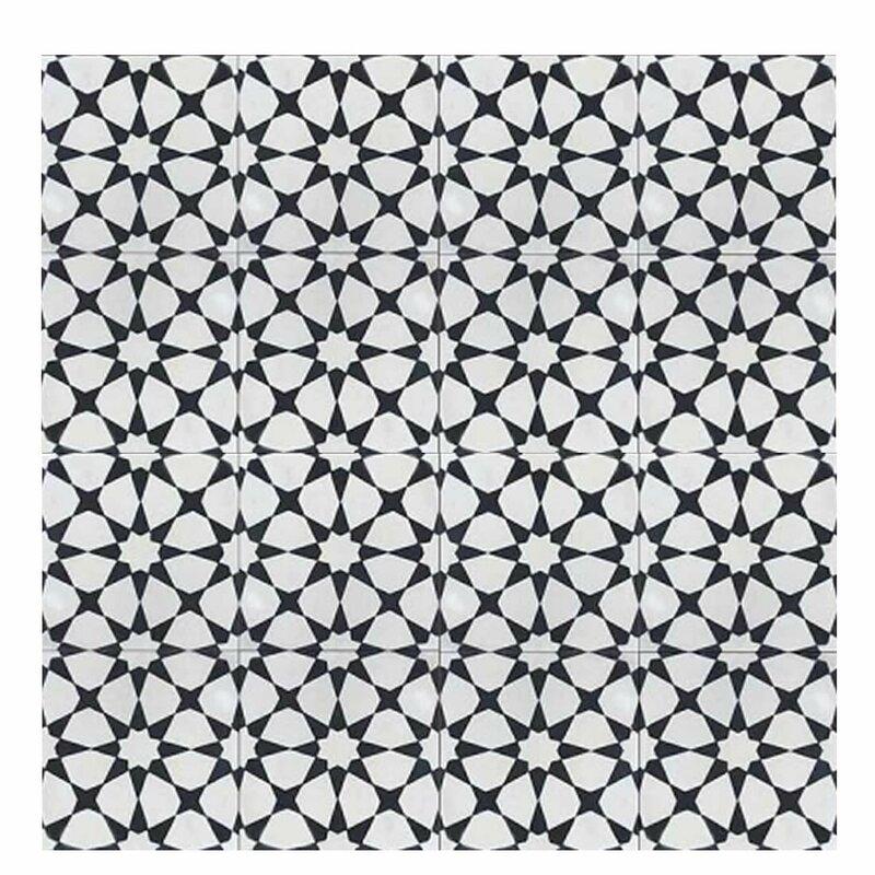 Moroccan mosaic tile house medina 8 x 8 handmade cement for Handmade cement tiles