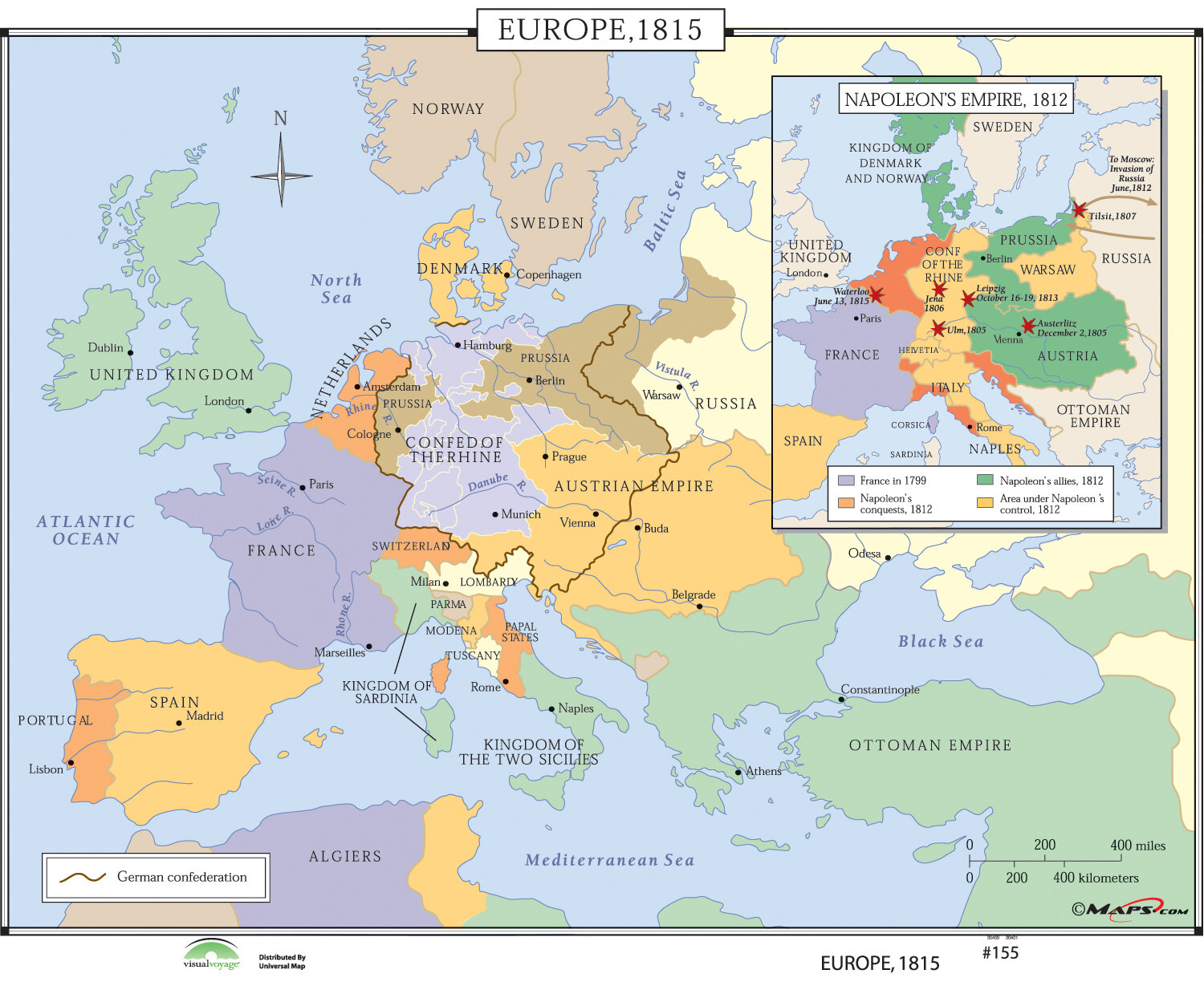 Universal Map World History Wall Maps - Europe 1815 | Wayfair