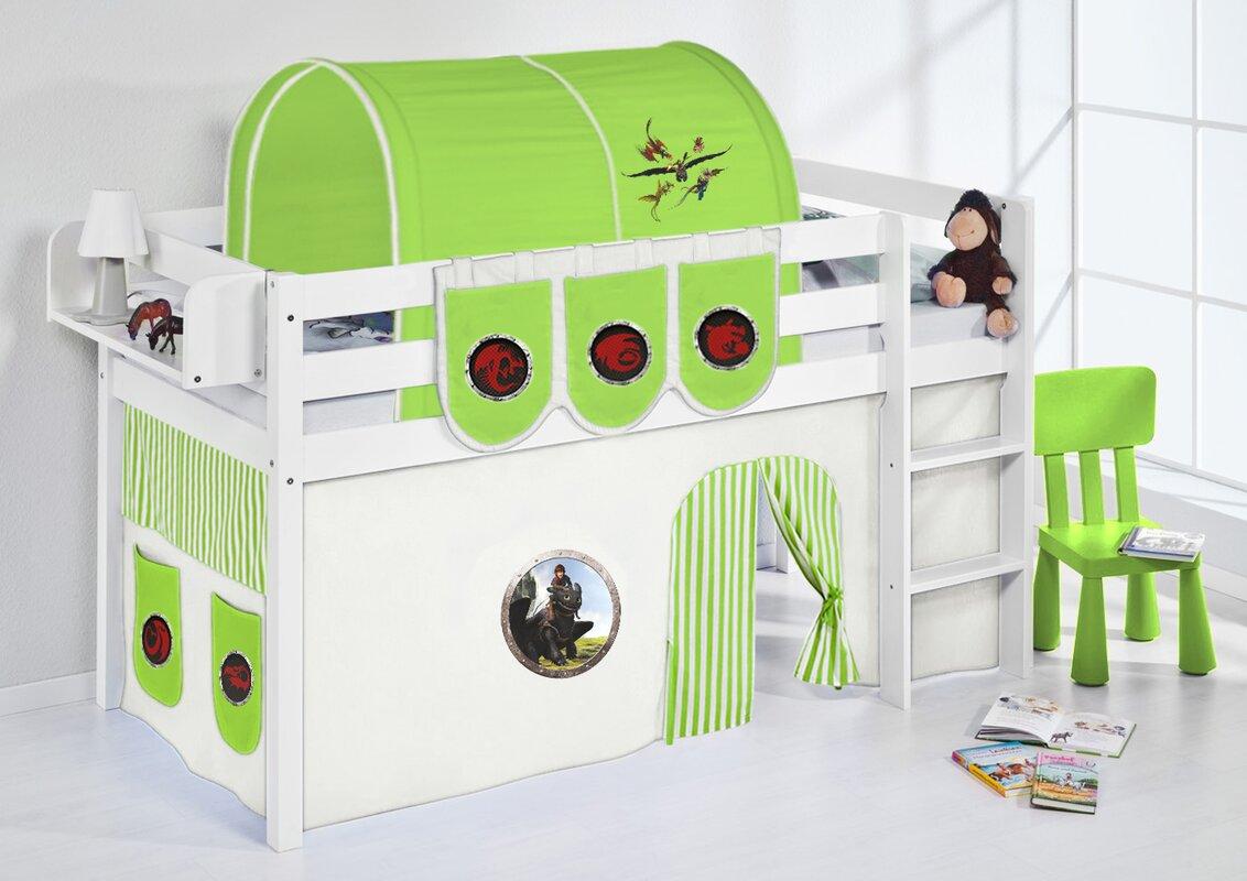 lilokids hochbett dragons mit vorhang und lattenrost bewertungen. Black Bedroom Furniture Sets. Home Design Ideas