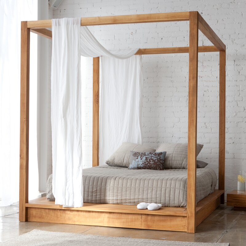 Canopybed mash studios pchseries canopy bed & reviews | wayfair